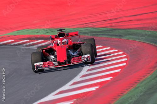 Foto Spatwand F1 Formel Rennwagen frontal