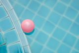 plastic ball in pool