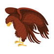 attacking eagle wild icon