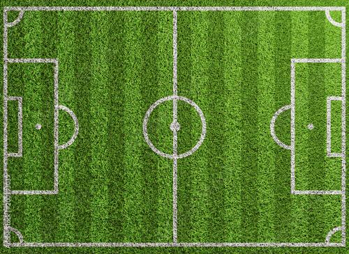 Fußball Spielfeld Textur von oben mit Gras