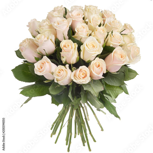 Bouquet of cream roses - 200394050
