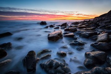 After sunset / Rocky beach long exposure seascape after sunset  © jessivanova
