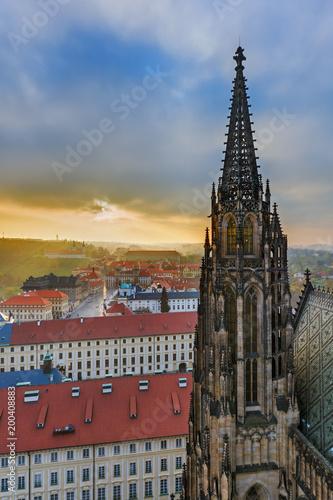 Poster Praag Saint Vitus cathedral in Prague - Czech Republic