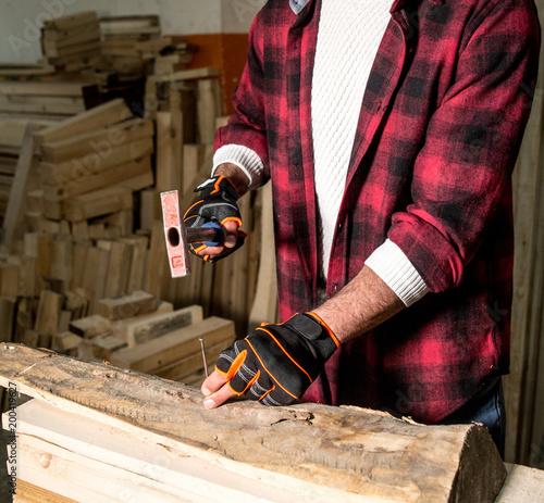 carpenter working on wood