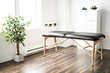 A physiotherapy room with table