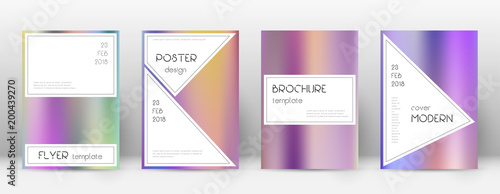 Flyer layout. Stylish radiant template for Brochure, Annual Report, Magazine, Poster, Corporate Presentation, Portfolio, Flyer. Authentic color gradients cover page.