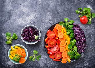 Fresh healthy vegetarian rainbow salad © Yulia Furman
