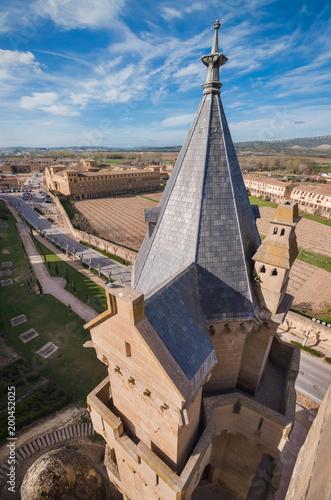 Castle of Olite, medieval village in Navarra, Spain.