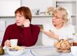 Quarrel between two senior women