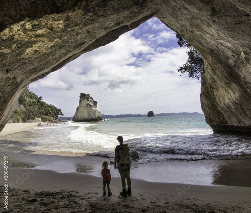 Foto Spatwand Cathedral Cove catherdral cove new zealand coromedal vacation family with kids