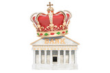 Bank with royal crown, 3D rendering - 200460869