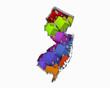 New Jersey NJ Homes Homes Map New Real Estate Development 3d Illustration