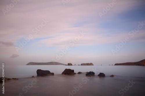 Foto op Plexiglas Lichtroze A Small seaside town Turgutreis