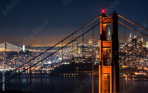 Fotobehang Bruggen Golden Gate Bridge at Night