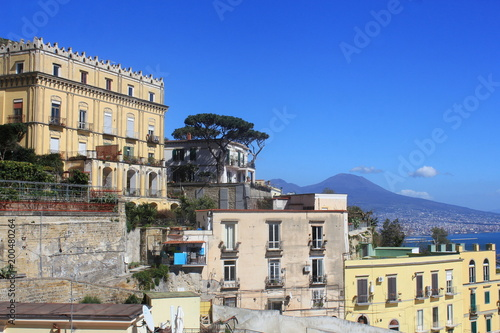 Fotobehang Napels Panoramic view of the city of Napoli , Italy