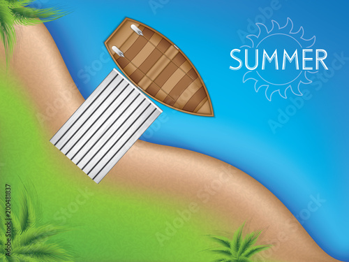 Plexiglas Pier Summer concept background