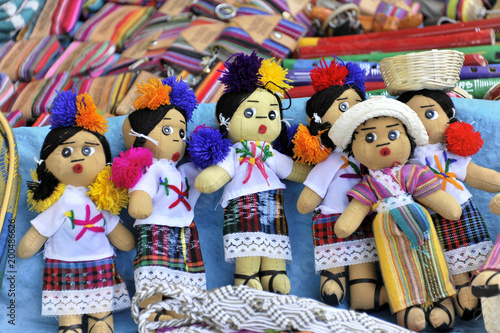 Puppen, Souvenirs, Verkaufsstand, Palenque, Chiapas, Mexiko, Mittelamerika