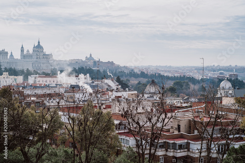 Foto op Aluminium Madrid Cityscape of Madrid with Royal Palace