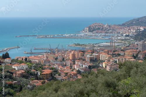 In de dag Liguria Imperia. Italian Riviera