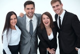 happy business team.isolated on a white background. - 200497617