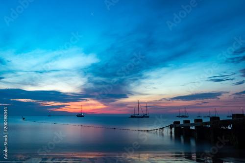 Keuken foto achterwand Ochtendgloren Sea Sunrise