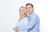 Middle aged Couple portrait isolated on white background. - 200502057