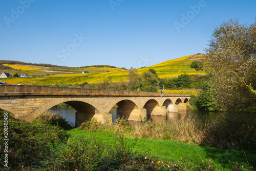 Fotobehang Bruggen Die Luitpoldbrücke in Oberhausen in Rheinland-Pfalz
