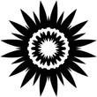 Decorative flower in a blck - white colors - 200509028