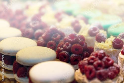 Fotobehang Macarons A macaron. Close-up.