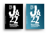 Jazz music poster design template. Creative jazz typography. Background for promotion of music events.