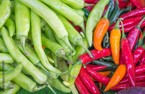 Fotobehang Hot chili peppers chili