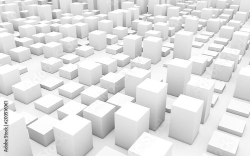Wall mural digital concept cubes
