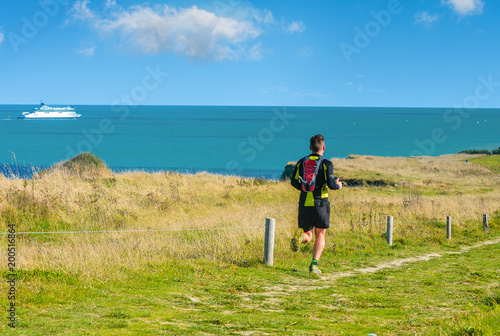 Keuken foto achterwand Jogging joggeur en action