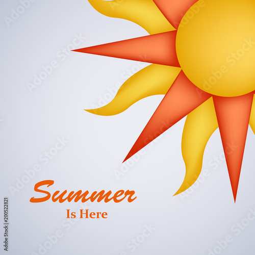 Illustration of background for Summer Season