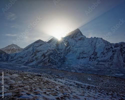 Keuken foto achterwand Ochtendgloren Sunrise Mont Everest