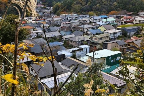 Sticker Japanese residential suburb in Kamakura
