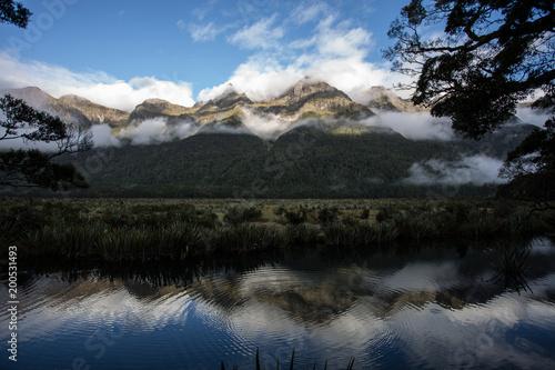 Foto op Aluminium Bergen Misty Mountain Mourn