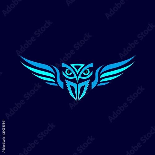 owl logo design for emblem and symbol