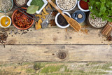Herbs and Spices - Space for text poster