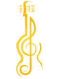 nice and beautiful abstract, banner or poster for Music or Music Day with nice and creative design illustration in a background. - 200543297