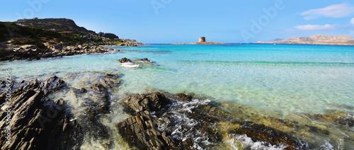 Fotobehang Cathedral Cove Strand - Sardinien