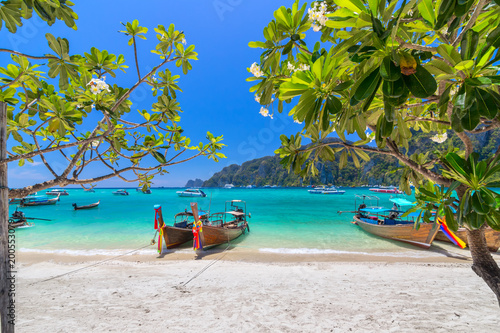 Keuken foto achterwand Tropical strand Beautiful White sand beach at Phi Phi Island , Krabi , Thailand