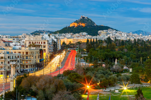 Keuken foto achterwand Athene Athens. Aerial view of the city.