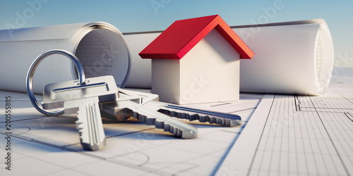 Konzept eigene Immobilie - Hausbau