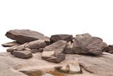 rock isolated on white background - 200558032