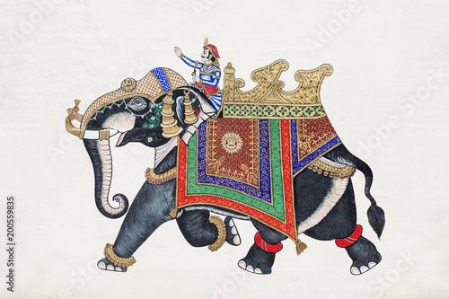 Foto Murales Beautiful elephant picture