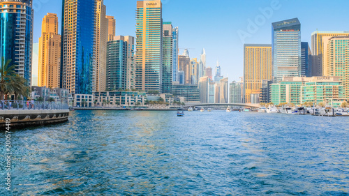 Poster Chicago Dubai Marina Towers with water view