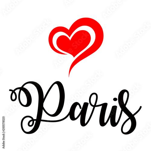 Love Paris handwritting © Ricochet64