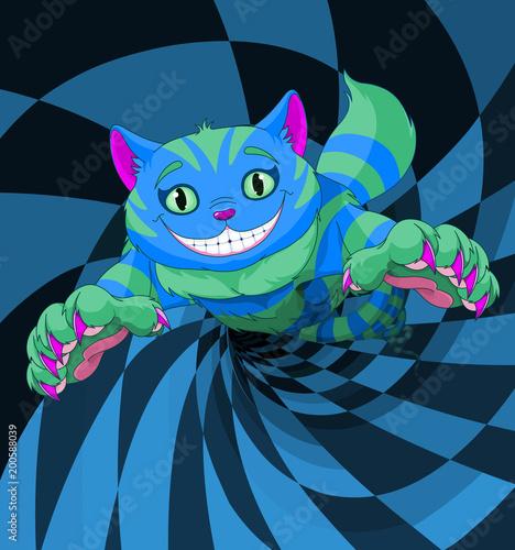 Plexiglas Meisjeskamer Cheshire Cat Jumping