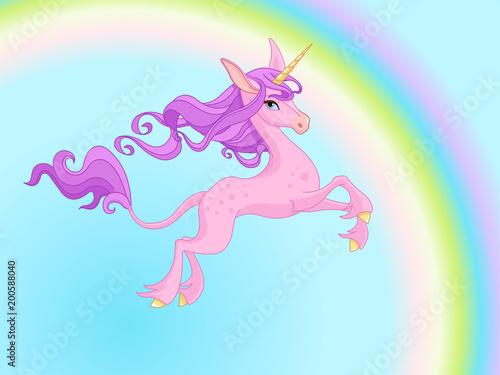 Plexiglas Meisjeskamer Magic Unicorn